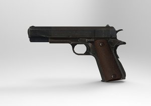colt pistol 3d model