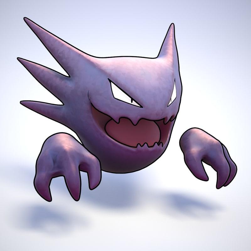 3d model haunter pokemon