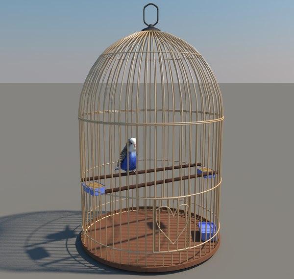 3d bird birdcage model
