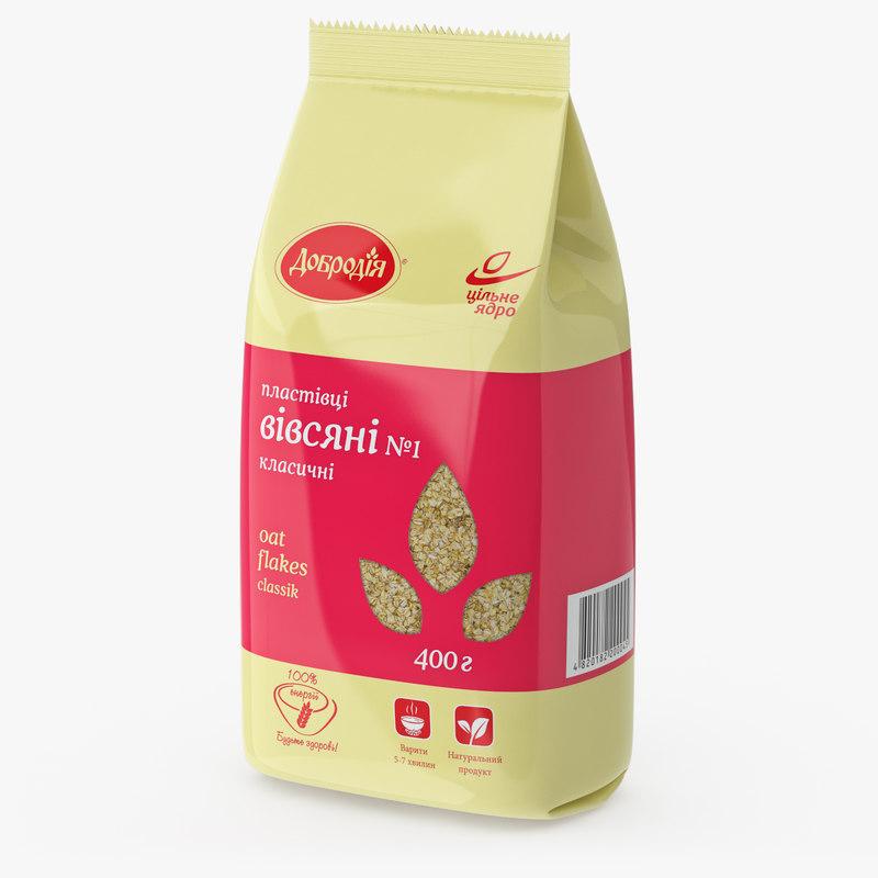 3d oats packaging
