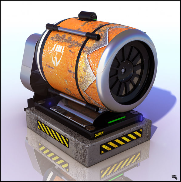 machine futuristic fan 3d max