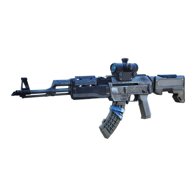 3d model rifle gun
