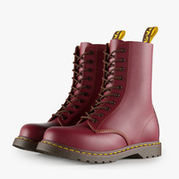 leather red boots 3d model