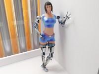 3d woman cyborg 001