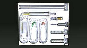 3d model catheter set