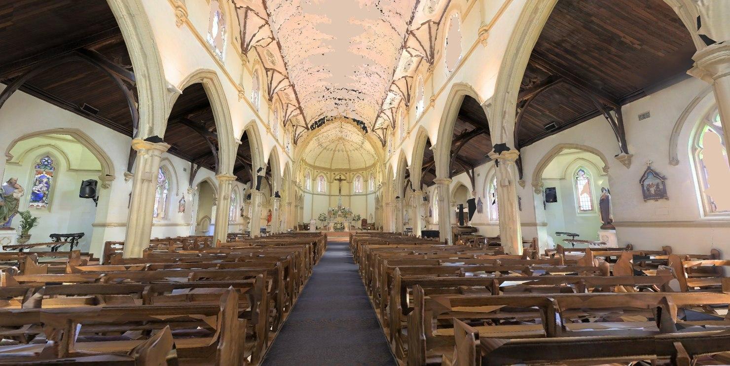 church scan space 3d max