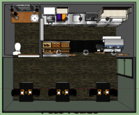 coffee store 3d 3ds