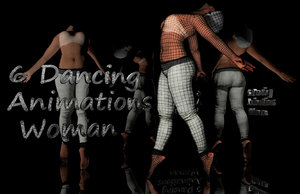 6 animations woman dancing c4d