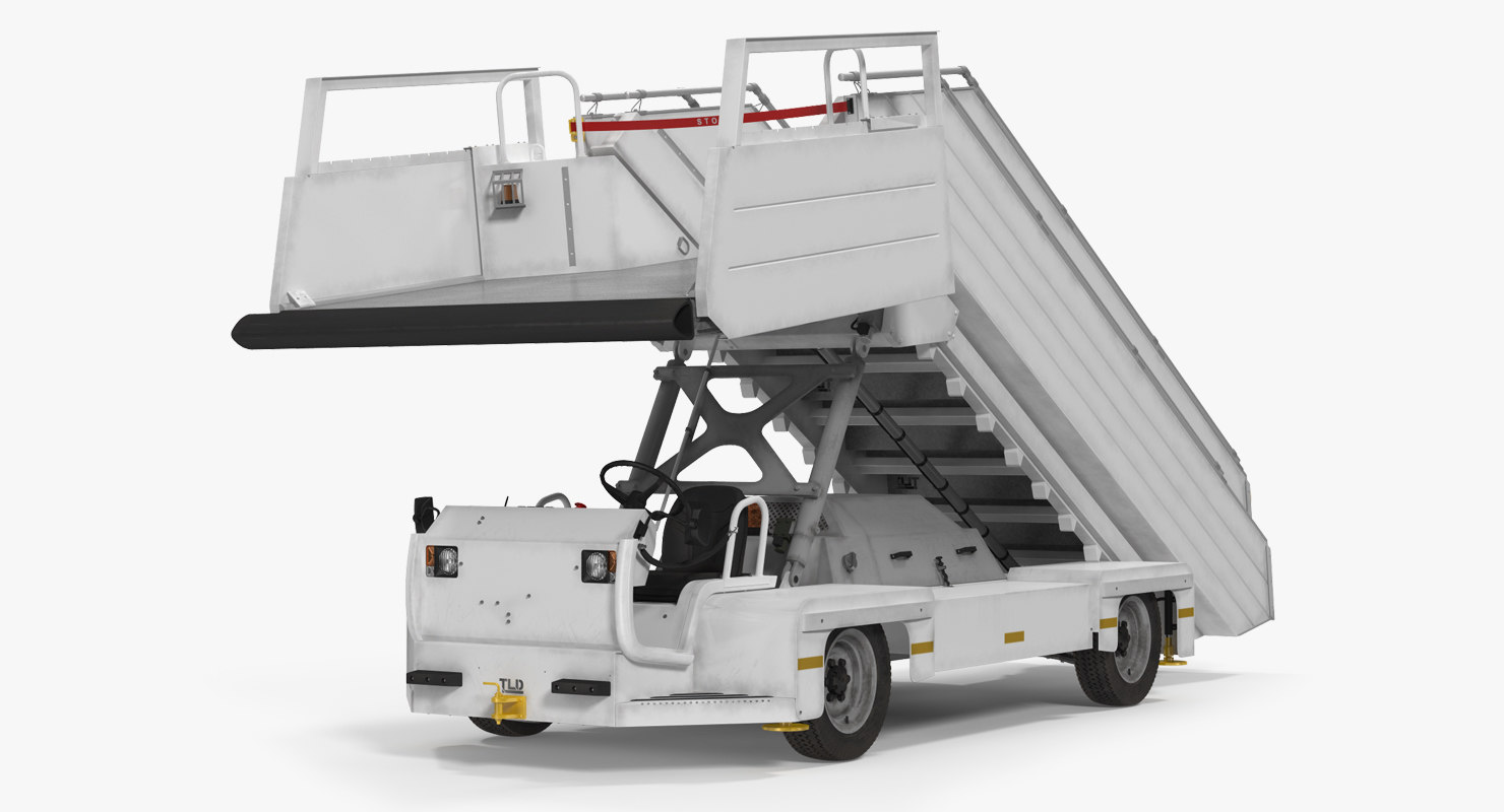 3d model of passenger boarding stairs vehicle