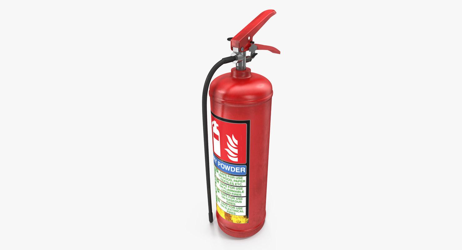c4d red extinguisher