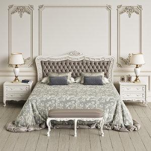 3d angelo cappellini itaca bedroom