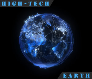 3d high-tech earth
