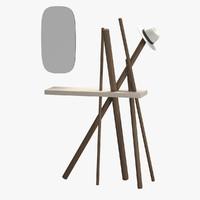 3d coat hanger wood tonin