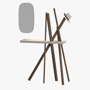 3d coat hanger wood tonin