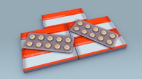 pills strips 3d obj