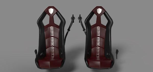 lamborghini seats 3d model