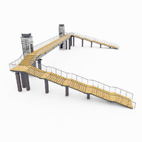 city pedestrian bridge 3d model