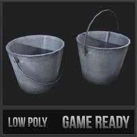 metal bucket 01 3d max