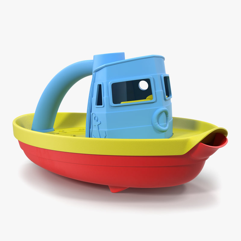 tugboat bath toy generic 3d max
