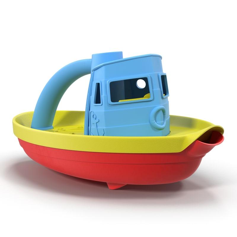 tugboat bath toy generic 3d max