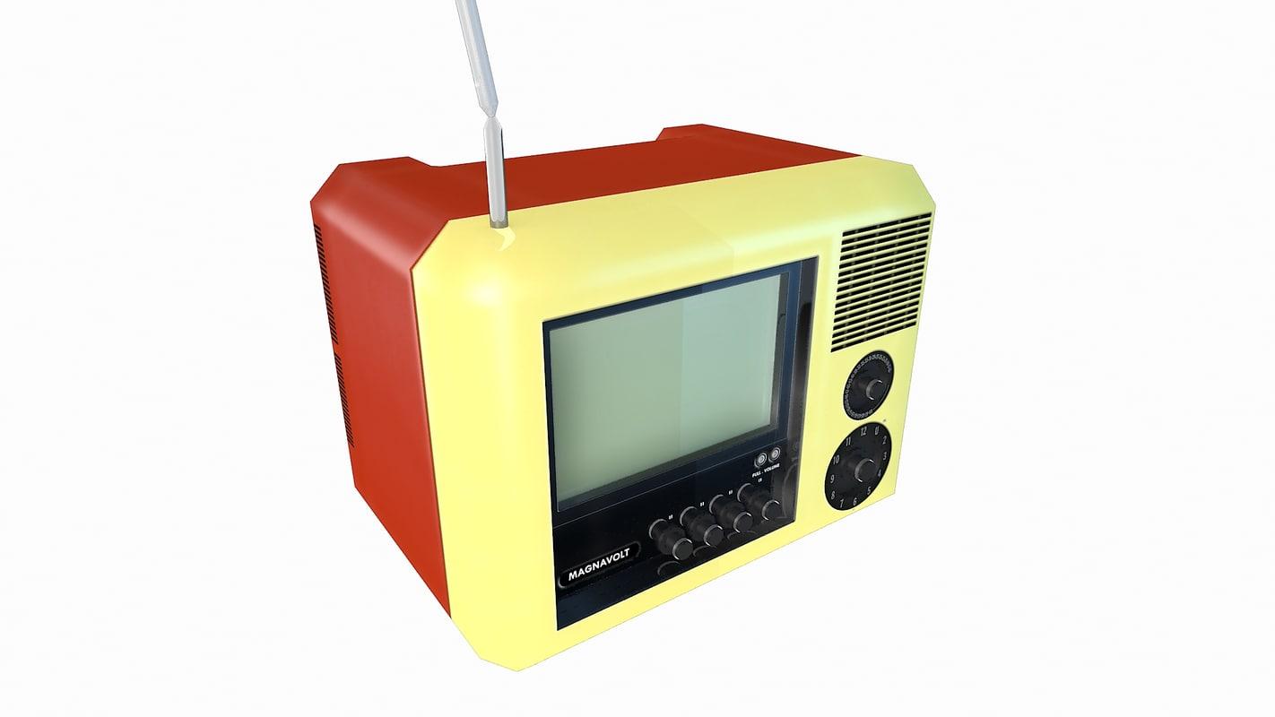 television antique classical 3d max