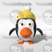 3d model cartoon christmas penguin