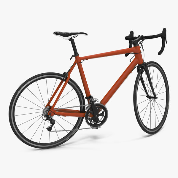 3d road bike generic rigged