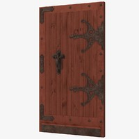 3d model old wood door