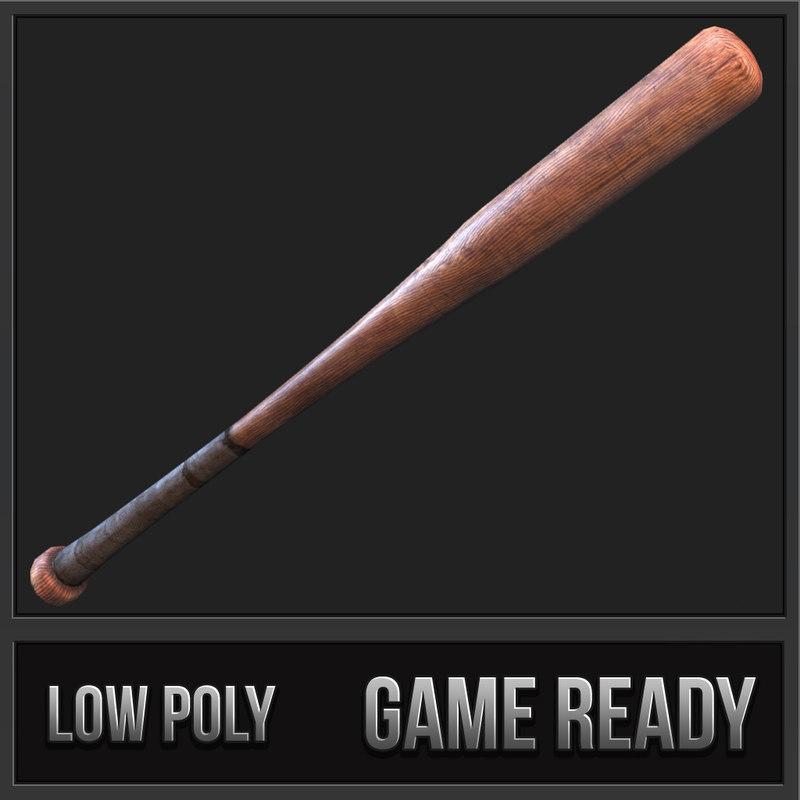 3ds baseball bat weapon 01