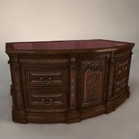 antique table 3d x