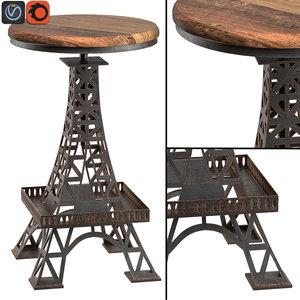 eiffel tower bar stool max