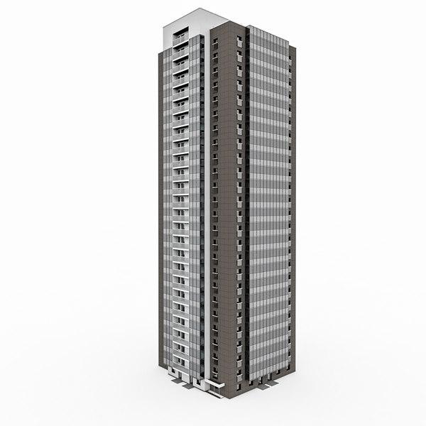 25 storey house 3d 3ds