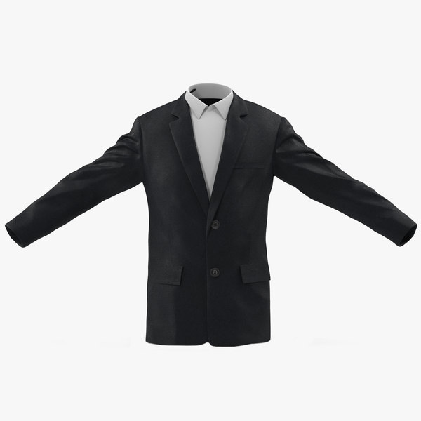 mens suit jacket 2 3d obj