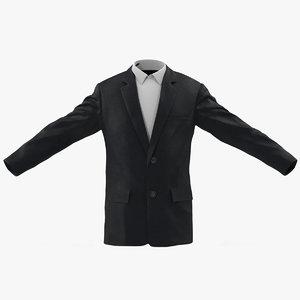 mens suit jacket 2 3d obj