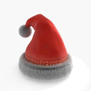 santa hat 3d model