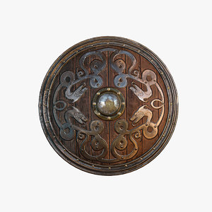 fantasy viking shield 3d model