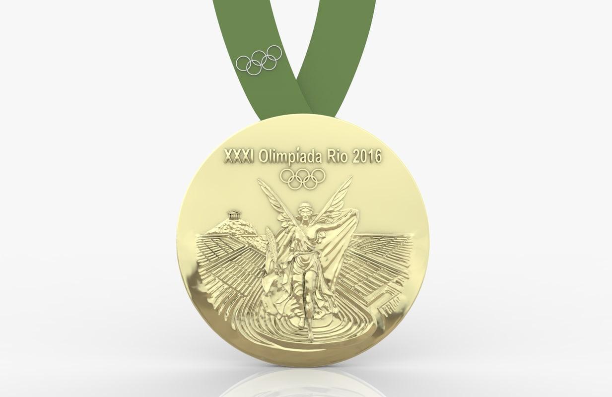 3d 2016 rio olympics medal