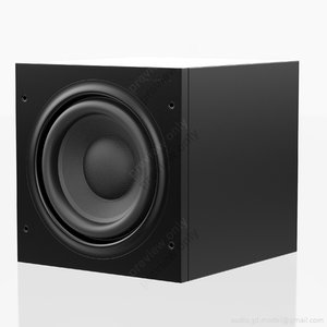 subwoofer bowers wilkins 608 3d model