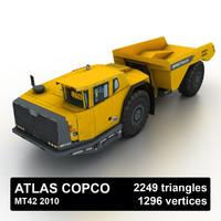 2010 atlas copco mt42 3d max