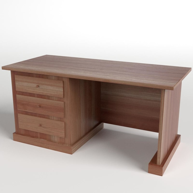 desk drawers 1 3d model
