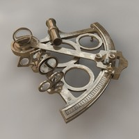 antique sextant 3d c4d