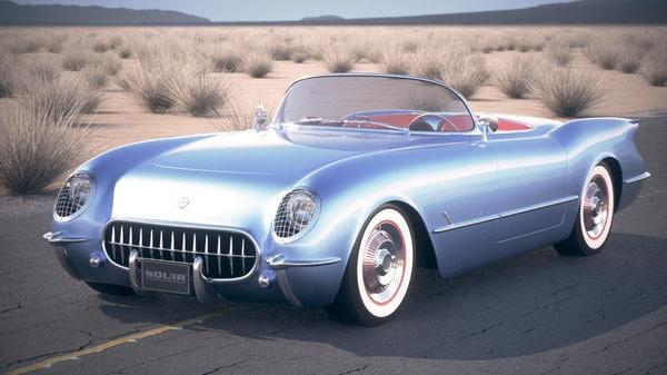 chevrolet corvette 1954 3d 3ds