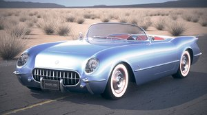 chevrolet corvette 1954 3d 3ds