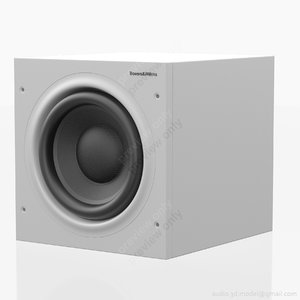3d model subwoofer bowers wilkins asw