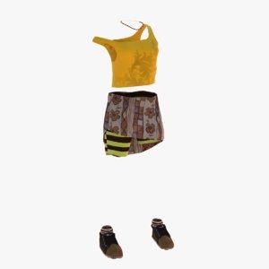casual clothes 3d max