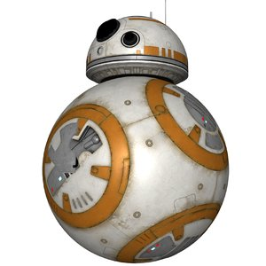 star wars bb-8 r2-d2 obj