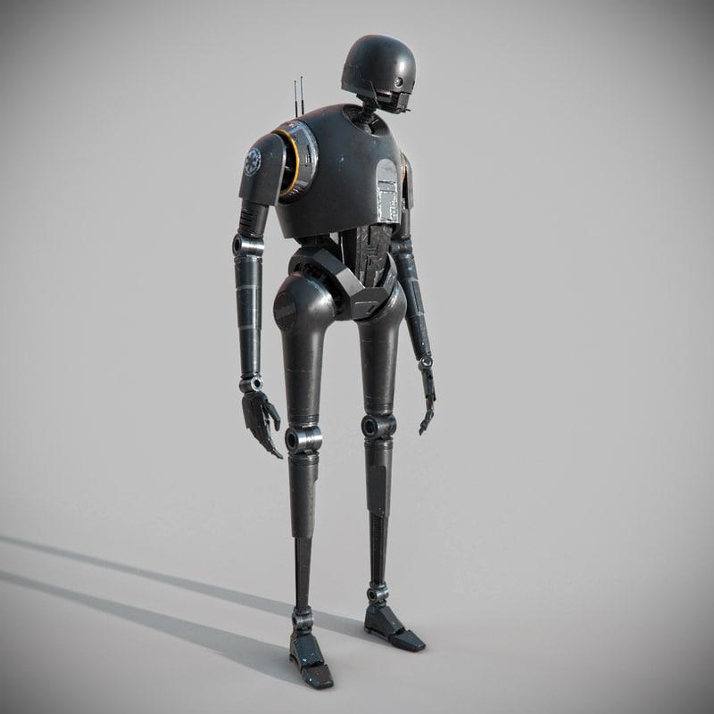 3d star wars k-2so droid