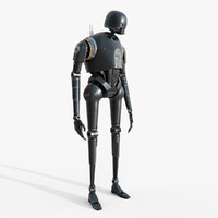 star wars k-2so droid 3d max