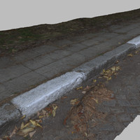 3d model curb 4 -autumn