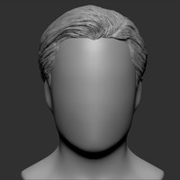 beauty man hairstyle premium 3d obj